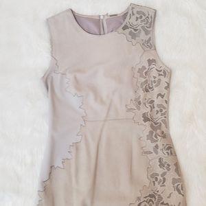 Elie Tahari Avital Floral Appliqué Sheath Dress
